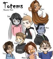 Totems character sheet by dire-musaera