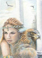 Call of the Eagles ACEO by Carol-Moore