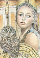 Athena - ACEO by Carol-Moore