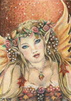 Autumn Rose - ACEO by Carol-Moore