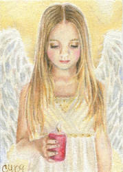 The Light of Christmas -  ACEO by Carol-Moore