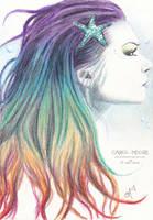 Rainbow Mermaid by Carol-Moore