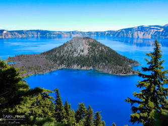 Crater Lake Closeup by Carol-Moore