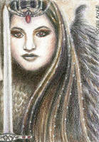 ACEO - The Battle Has Begun by Carol-Moore