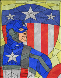 Captain America in Stained Glass by jmascia
