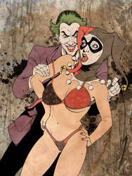 Joker and Harley by jmascia