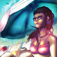 BeachDay_ PinUp by thePingdelf