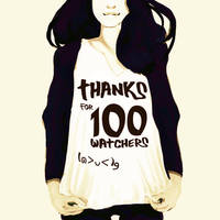 100 Watchers! by thePingdelf