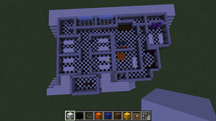 FNAF2 AU Layout Minecraft by TommyProductionsInc
