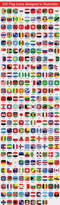 245 High Quality Flag Icons by themajiks