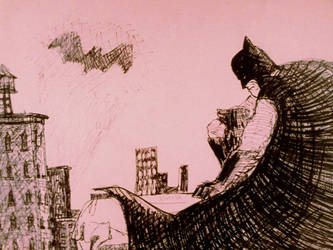 Boredom Batman drawing by DomeGiant