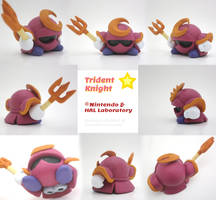 Trident Knight Painted Polymer Clay Sculptures by Daimyo-KoiKoi