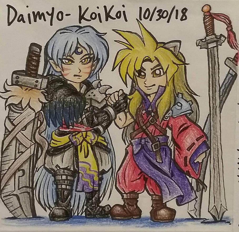Inuyastrife and Sephishomaru by Daimyo-KoiKoi