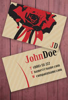 Business card for florists by Freshbusinesscards