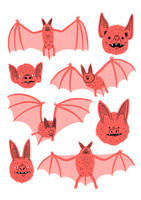 Bats Risograph by Teagle