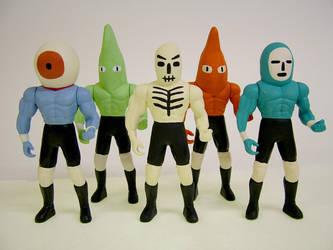 Wrestling Action Figures 4 by Teagle