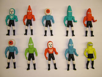 Fresh Batch of Action Figures by Teagle