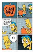 Giant Apple Comic by Teagle