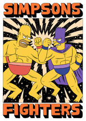 SIMPSONS FIGHTERS - Threadless design by Teagle