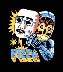 Pizzamas T-shirt Design by Teagle