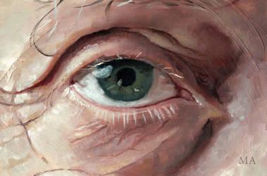 An old eye by MathildeAndre