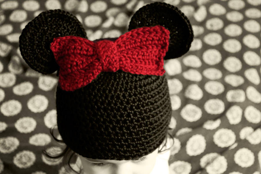 Minnie Mouse Crochet Hat By Liznat On Deviantart