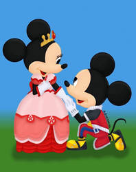Mickey and Minnie Mouse by kikiloom