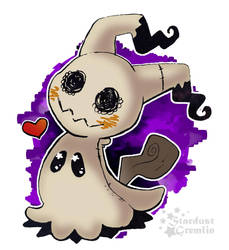 Mimikyu Loves You -  Sticker Design by StardustGremlin