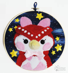 Celeste in the Stars - Embroidery Hoop by StardustGremlin