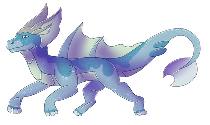 Water Dragon OC by HorizontalSquid