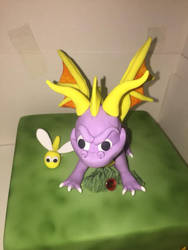 Spyro BD cake by HorizontalSquid