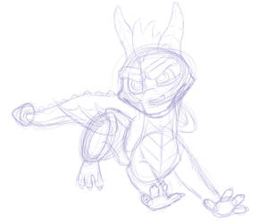 Spyro Peace Keepers Sketch by HorizontalSquid