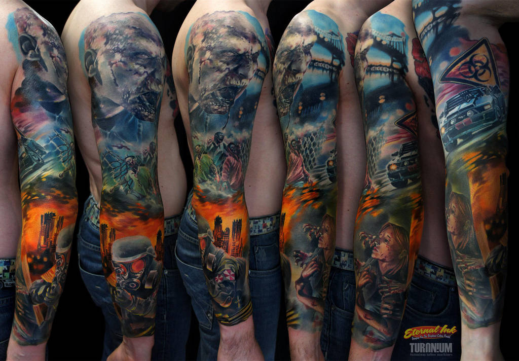 Zombie full sleeve by grimmy3d