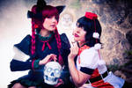 Spooky girls Aya and Orin by Zhenya-Chan