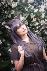 Forest Wolf Girl by Zhenya-Chan