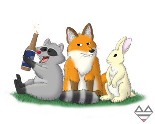 The Trio by RonRaccoon
