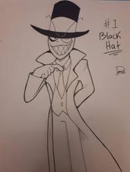 Inktober 2018 Villainous Day 1: Black Hat by ZonnyBrown