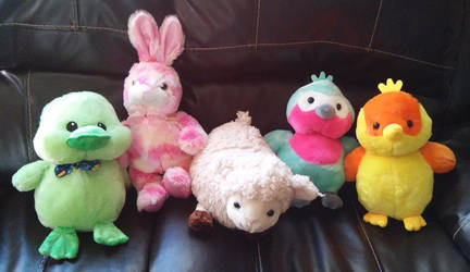 My Easter plush dolls by HoneyBatty16