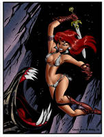 B.T.'s Red Sonja by richmbailey