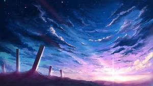 Clear blue sky by mrainbowwj