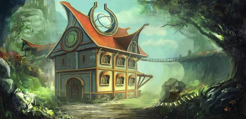 A Fantasy House by mrainbowwj