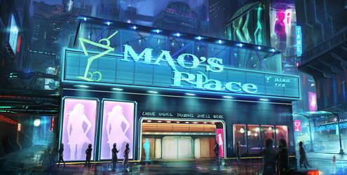 NightClub Entrance StreetView by mrainbowwj