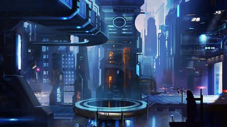 Sci-Fi City 2 by mrainbowwj