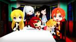 MMD Chibi Team RWBY Halloween by 2234083174