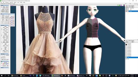 MMD Dress WIP by 2234083174
