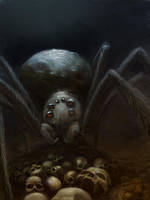 Monstrous spider by ortheza