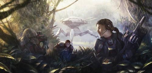 Jungle recon mission by ortheza