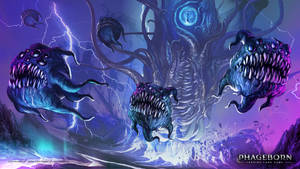 Voidlord and voidlings - Phageborn TCG by ortheza