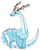 Snowy Dino by CloverWing