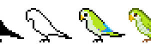 Parrot Pixel Quick Tutorial by CloverWing